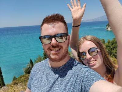 Linda and Eddy during their holiday in Greece